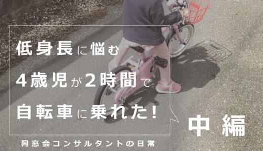 【実録!】低身長に悩む4歳の子が2時間で自転車に乗れた方法:中編